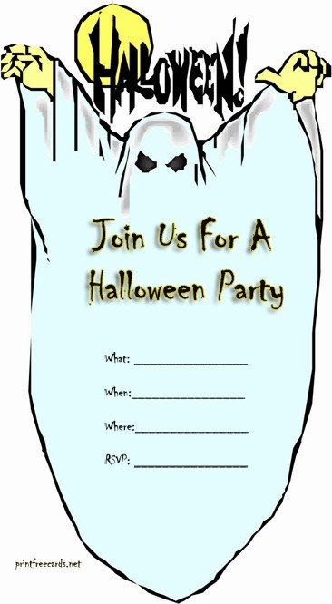Free Halloween Invitations Templates Printable Free Halloween Invitations – Festival Collections