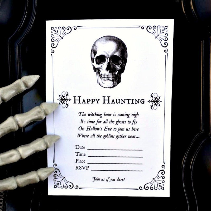 Free Halloween Invitations Templates Printable Free Halloween Party Invitation Printables Make Life Lovely