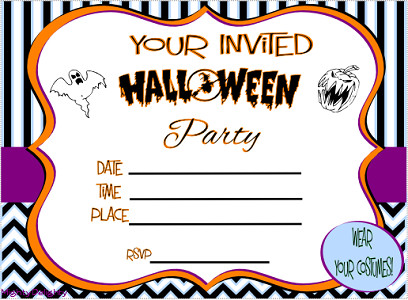 Free Halloween Invitations Templates Printable Free Printable Halloween Invitations Kids – Festival