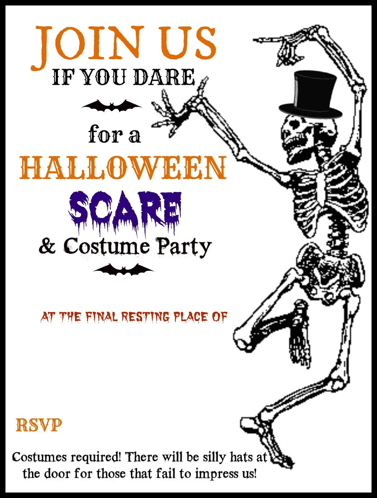 Free Halloween Invitations Templates Printable Free Printable Halloween Party Invitations Templates