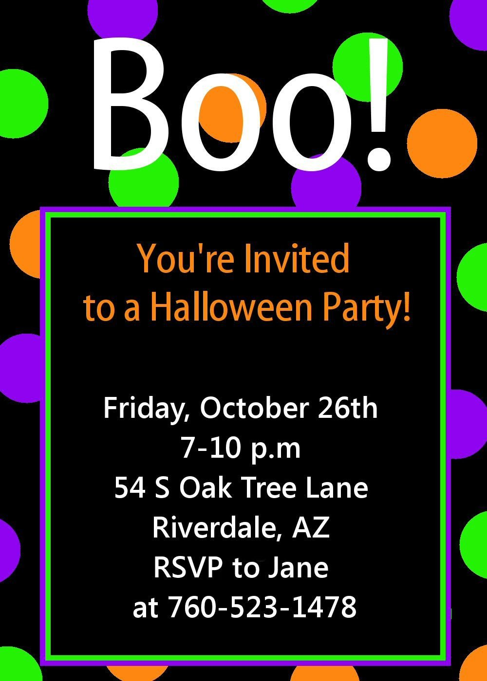 Free Halloween Invitations Templates Printable Halloween Party Invitation Printable