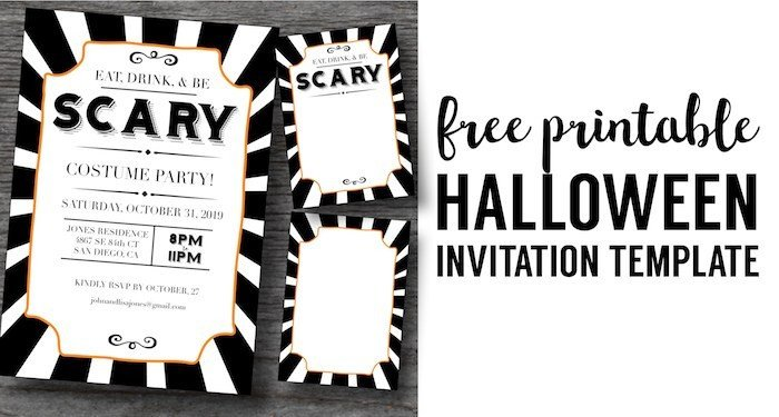 Free Halloween Invite Templates Halloween Invitations Free Printable Template Paper