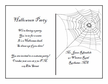 Free Halloween Invite Templates Printable Halloween Postcard Invitations
