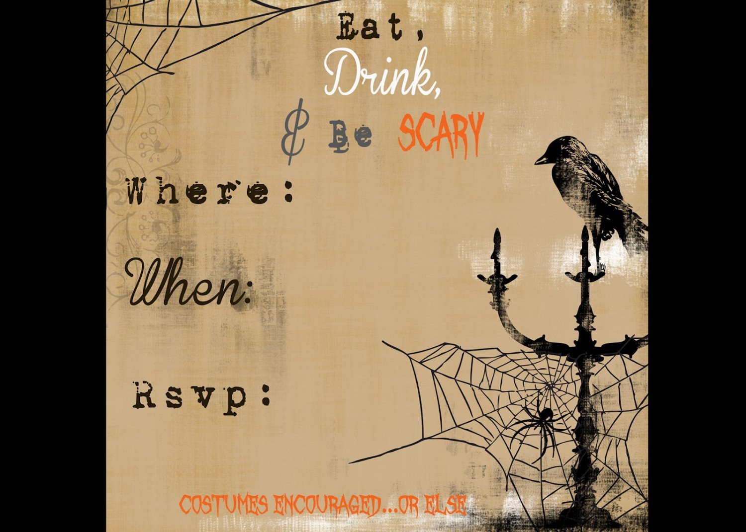 Free Halloween Invites Templates Free Halloween Invitation Templates Printable