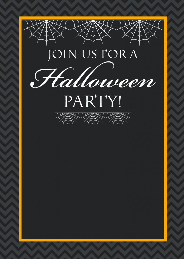 Free Halloween Invites Templates Free Printable Halloween Party Invitations Yellow Bliss Road