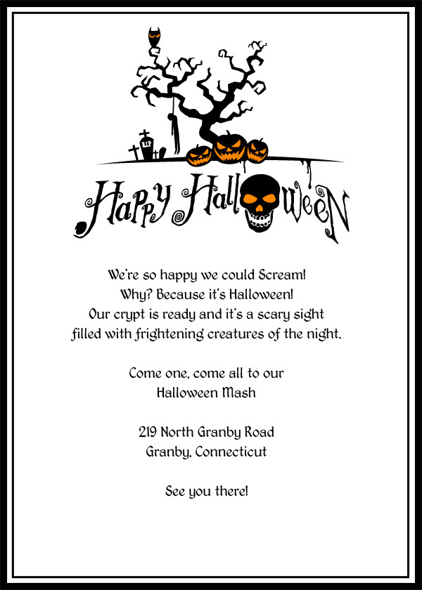 Free Halloween Invites Templates Halloween Invitation Template Editable – Festival Collections