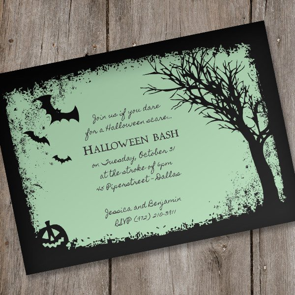 Free Halloween Invites Templates Halloween Invitation Template – Spooky Woods – Download