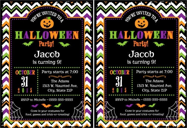 Free Halloween Invites Templates Sample Halloween Invitation Template 9 Free Documents