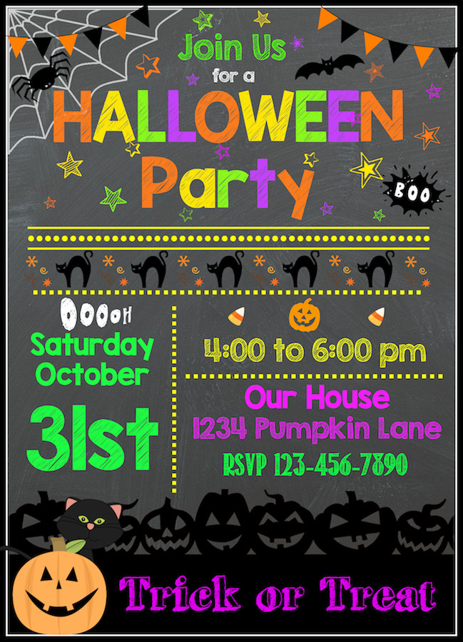 Free Halloween Party Invitation Templates Free Halloween Printables Kids Party Invitations