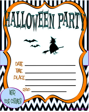 Free Halloween Party Invitation Templates Free Printable Halloween Invitations Kids – Festival