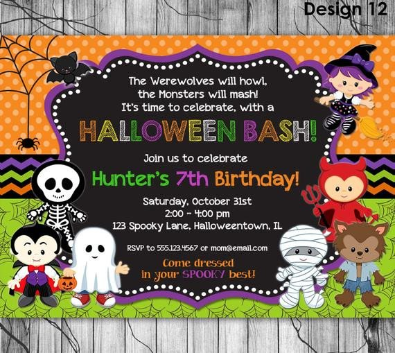 Free Halloween Party Invitation Templates Halloween Birthday Invitation Printable Kids Halloween Party