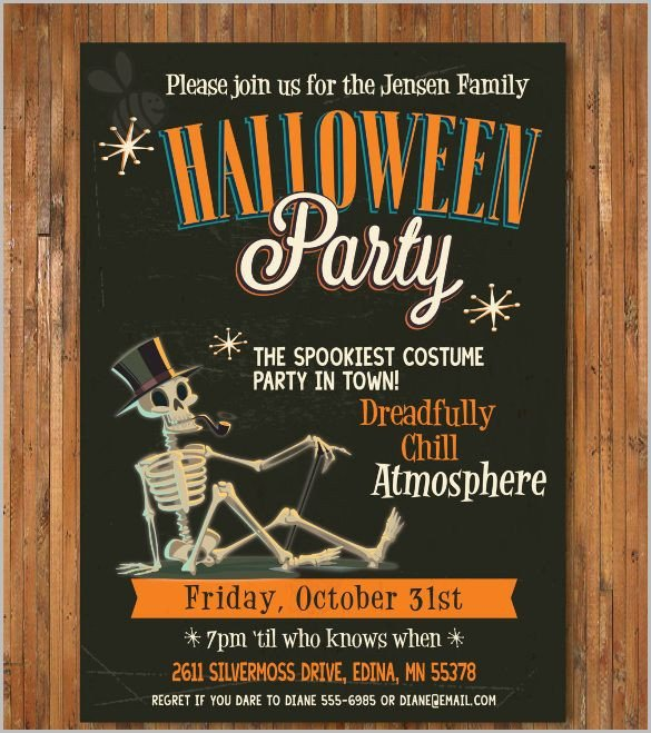 Free Halloween Party Invitation Templates Halloween Invitation 35 Free Psd Vector Eps Ai