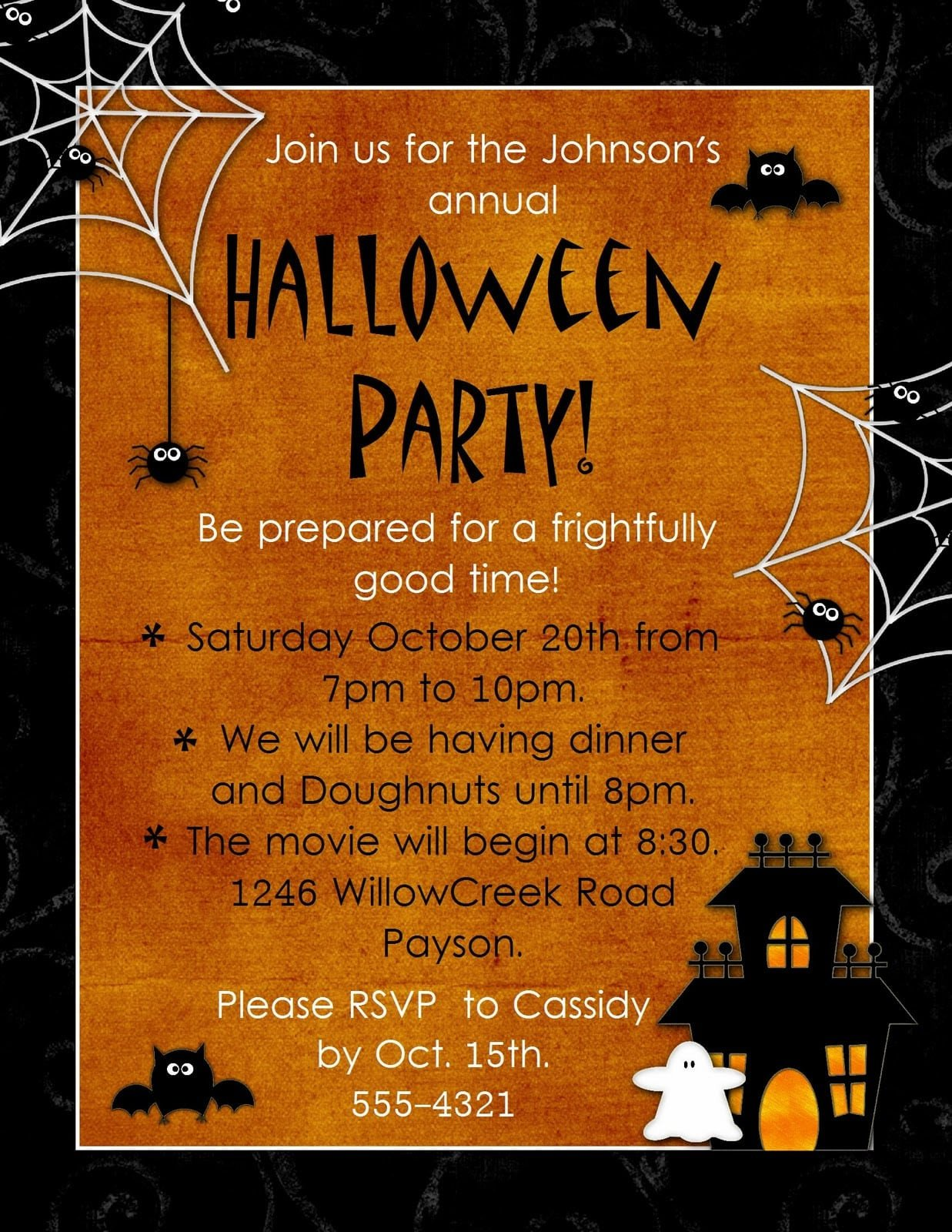 Free Halloween Party Invitation Templates Halloween Invitation Template Free