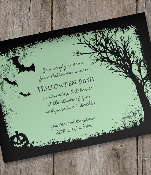 Free Halloween Party Invitation Templates Halloween Invitation Template – Spooky Woods – Download