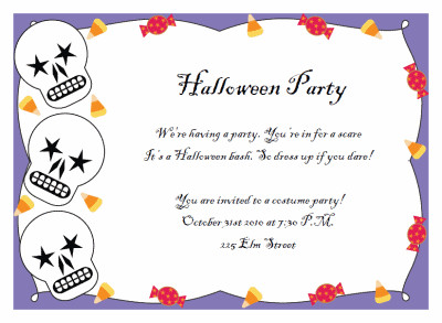Free Halloween Party Invitation Templates Printable Halloween Party Invitations