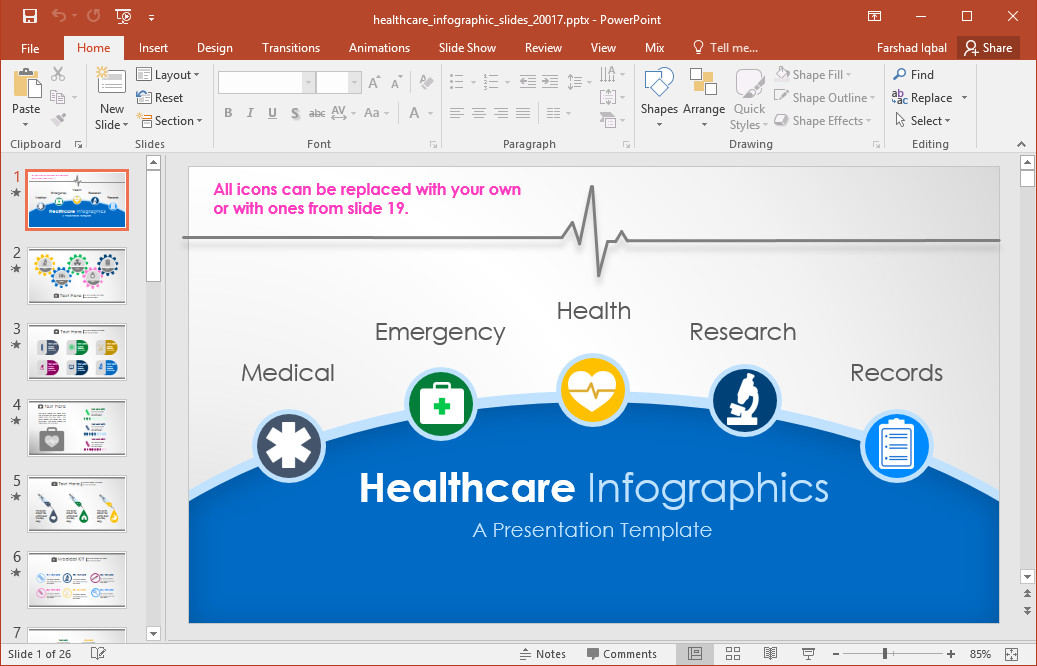 Free Healthcare Powerpoint Templates Animated Healthcare Infographics for Powerpoint
