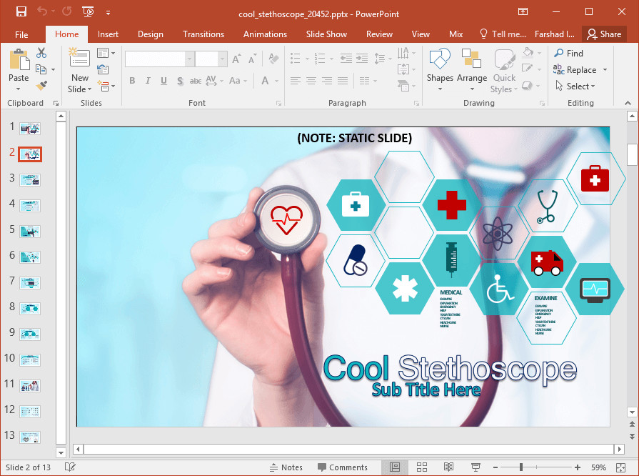 Free Healthcare Powerpoint Templates Animated Medical Powerpoint Template