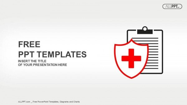 Free Healthcare Powerpoint Templates Flat Medical Icon Medical History On A White Background