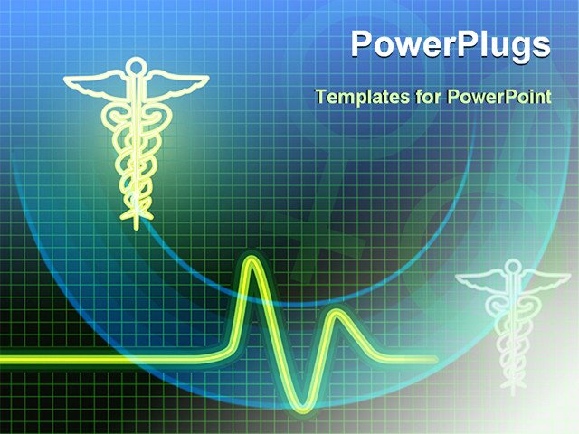 Free Healthcare Powerpoint Templates Medical Symbol with Heart Beat Line Powerpoint Template