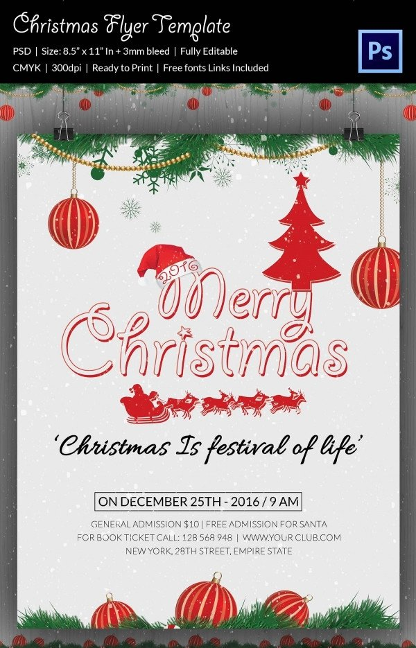 Free Holiday Flyer Templates 60 Christmas Flyer Templates Free Psd Ai Illustrator