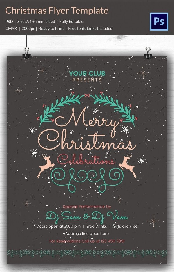 Free Holiday Flyer Templates 78 Christmas Flyer Templates Psd Ai Illustrator Word