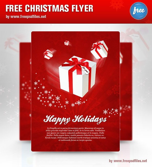 Free Holiday Flyer Templates Christmas Flyer Psd Template Free Psd Files