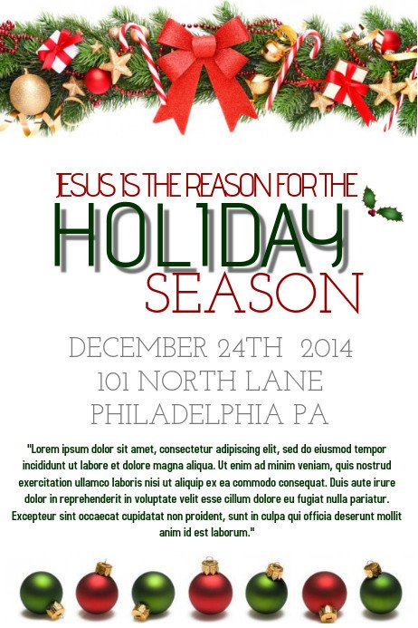 Free Holiday Flyer Templates Holiday Flyer Template