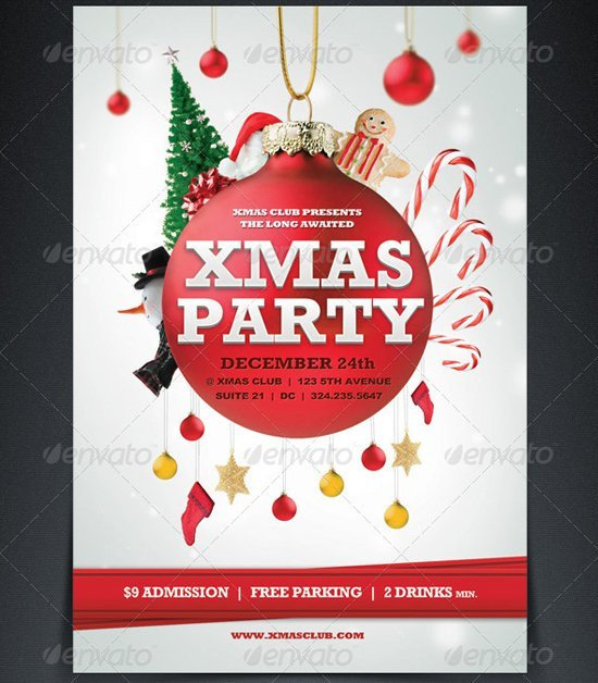 Free Holiday Flyer Templates Printable Christmas Party Flyer Templates