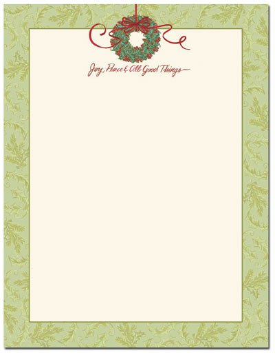 Free Holiday Stationery Templates Christmas Stationery Printer Paper