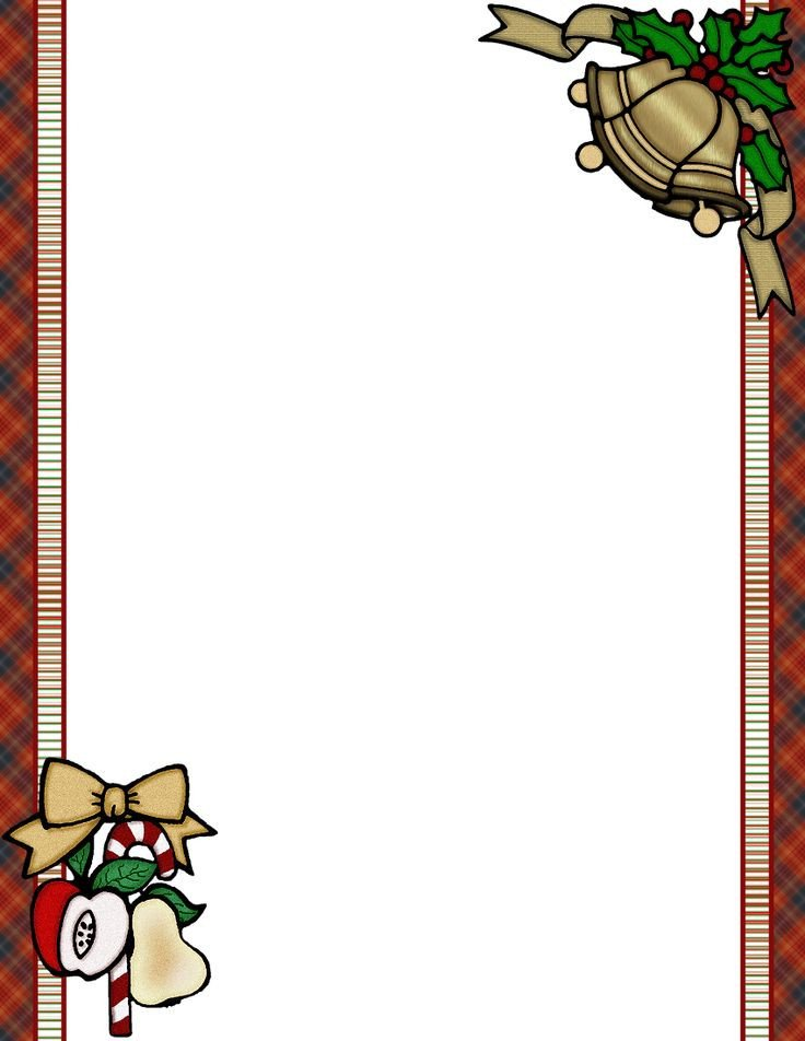 Free Holiday Stationery Templates Free Christmas Menu Borders