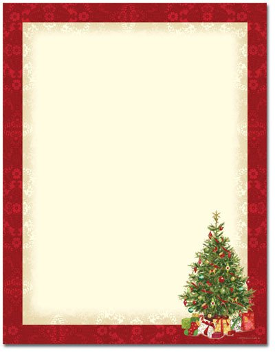 Free Holiday Stationery Templates Printable Christmas Stationery