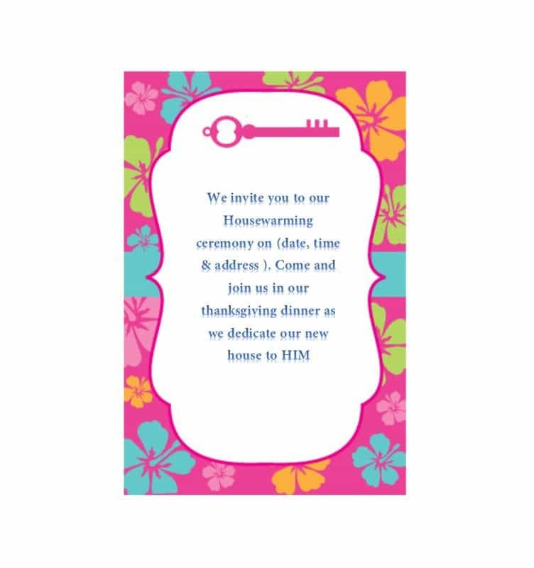 Free Housewarming Invitation Templates 40 Free Printable Housewarming Party Invitation Templates