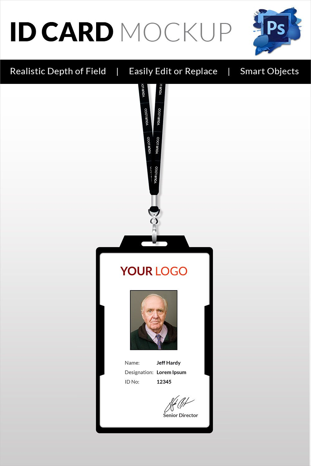 Free Id Badge Template 18 Id Card Templates – Free Psd Documents Download