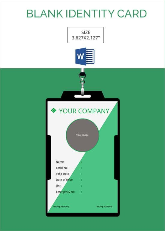 Free Id Badge Template 30 Blank Id Card Templates Free Word Psd Eps formats