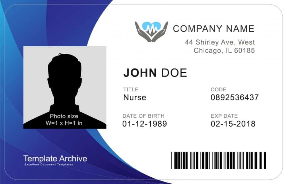 Free Id Badge Templates 16 Id Badge & Id Card Templates Free Template Archive