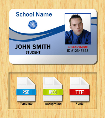 Free Id Badge Templates Student Id Templates Download