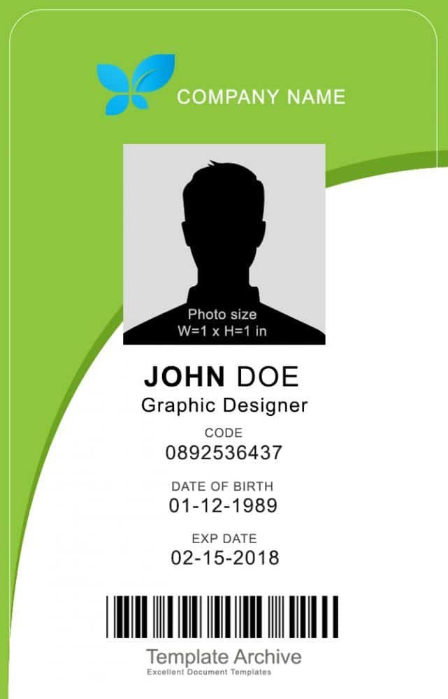 Free Id Card Templates 16 Id Badge & Id Card Templates Free Template Archive
