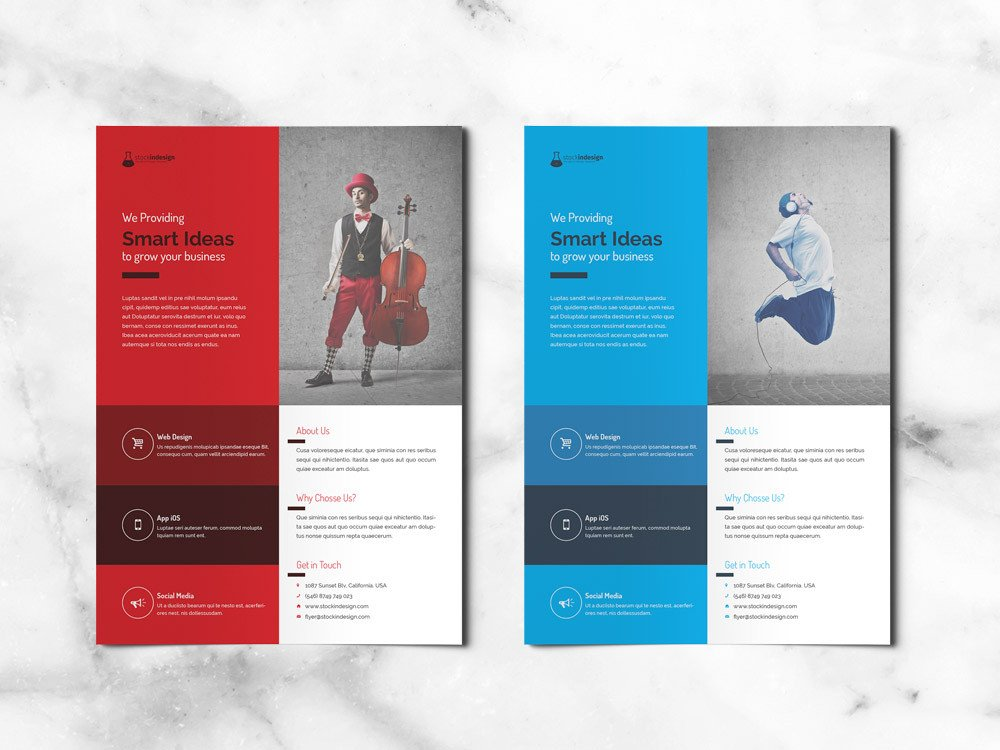 Free Indesign Flyer Templates Free Corporate Flyer