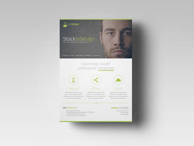 Free Indesign Flyer Templates Free Indesign Template Of the Month Corporate Flyer