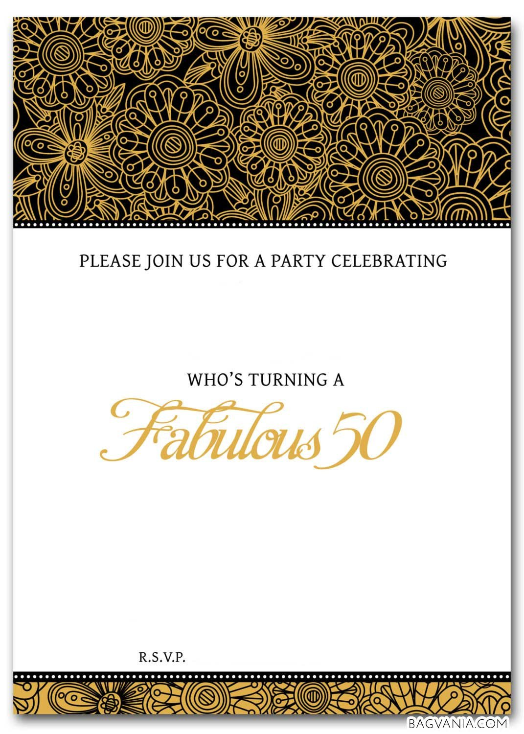 Free Invitation Template Printable Free 50th Birthday Party Invitations Wording – Free