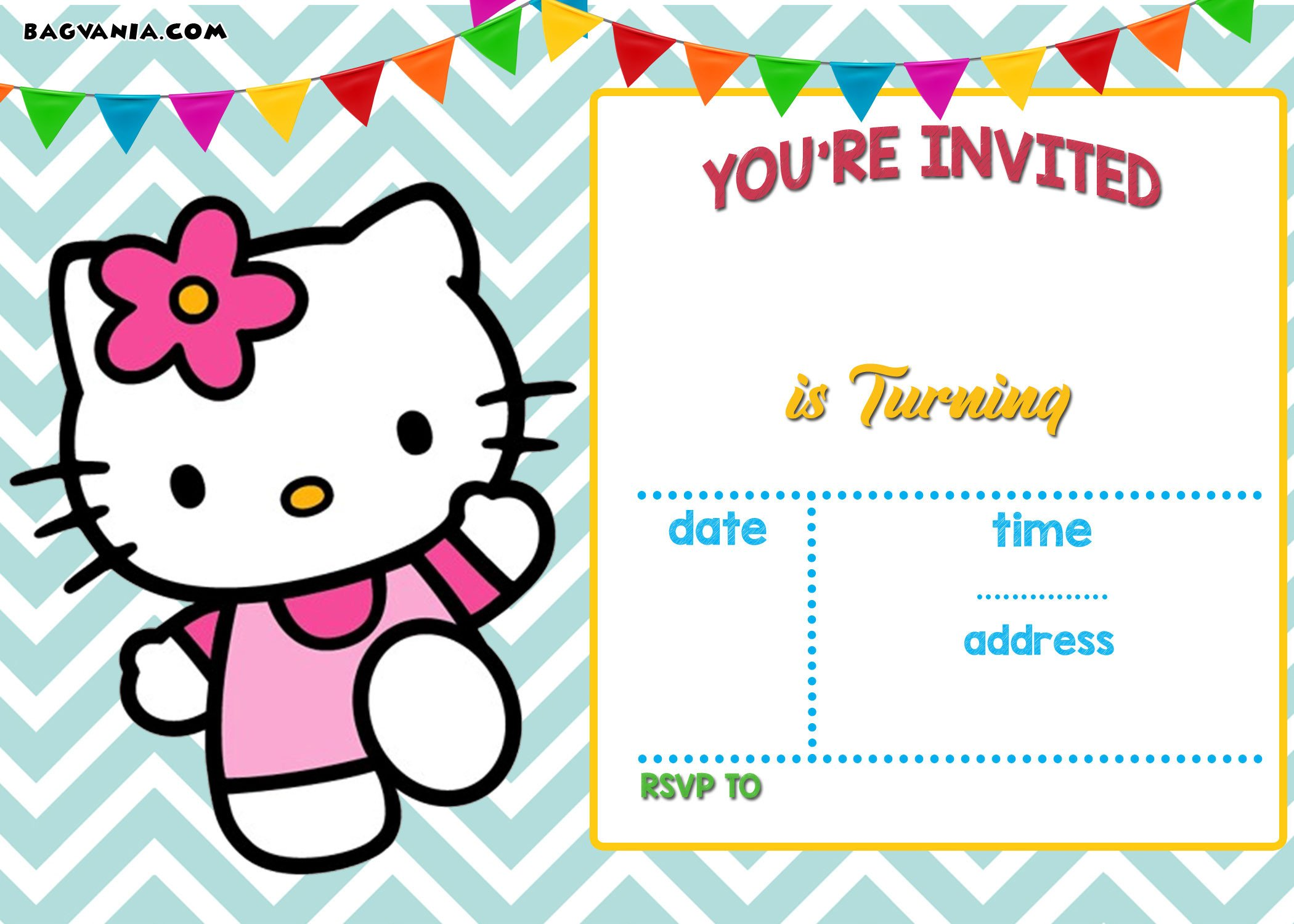 Free Invitation Template Printable Free Personalized Hello Kitty Birthday Invitations