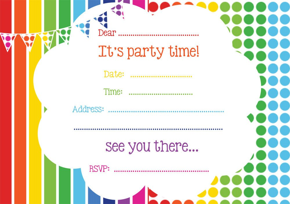 Free Invitation Template Printable Free Printable Birthday Invitations Line – Bagvania Free