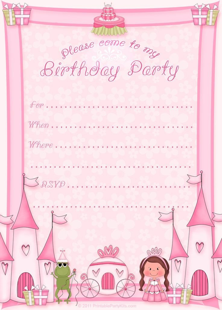 Free Invitation Template Printable Free Printable Princess Birthday Invitation Template