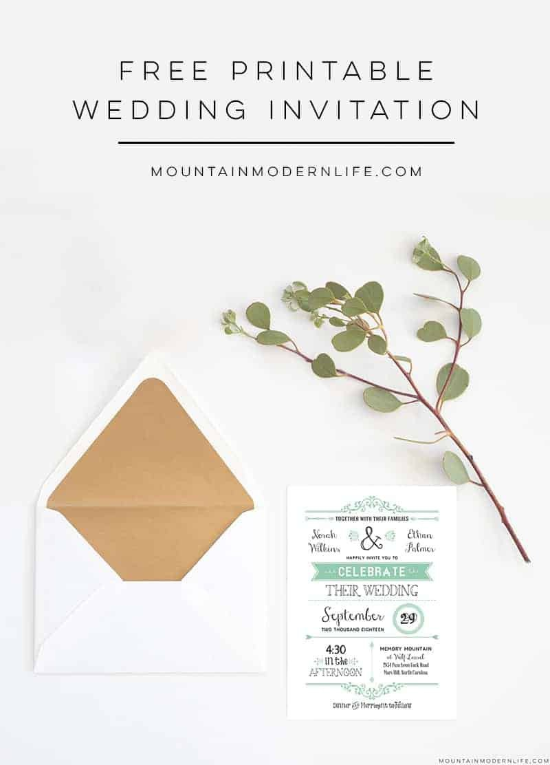 Free Invitation Template Printable Free Wedding Invitation Template