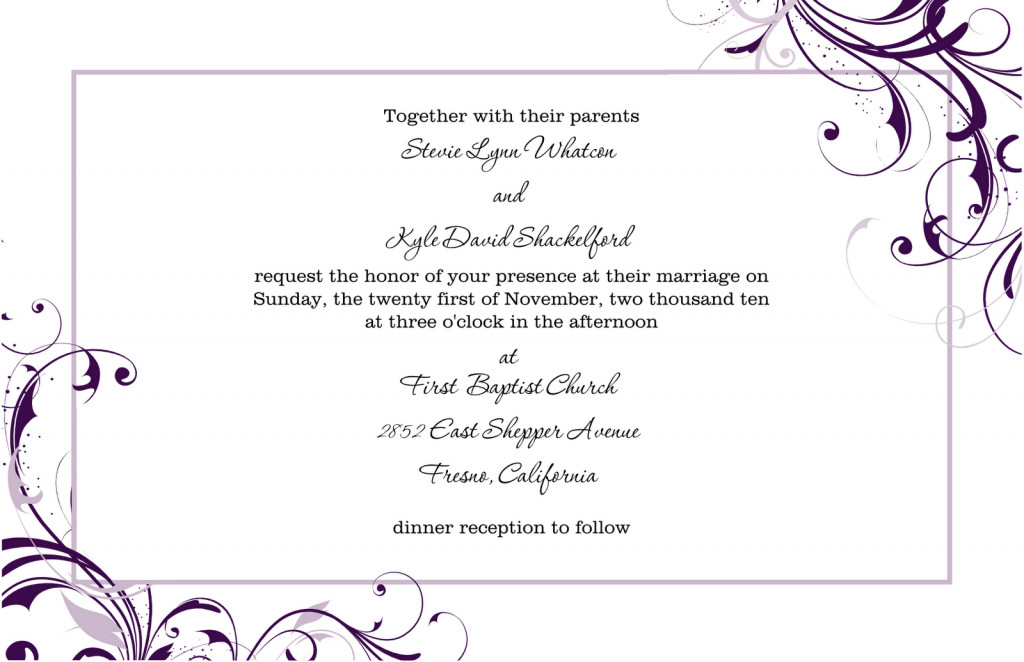 Free Invitation Template Word 8 Free Wedding Invitation Templates Excel Pdf formats