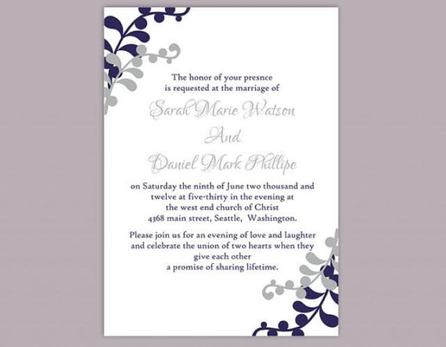 Free Invitation Template Word Diy Wedding Invitation Template Editable Word File Instant