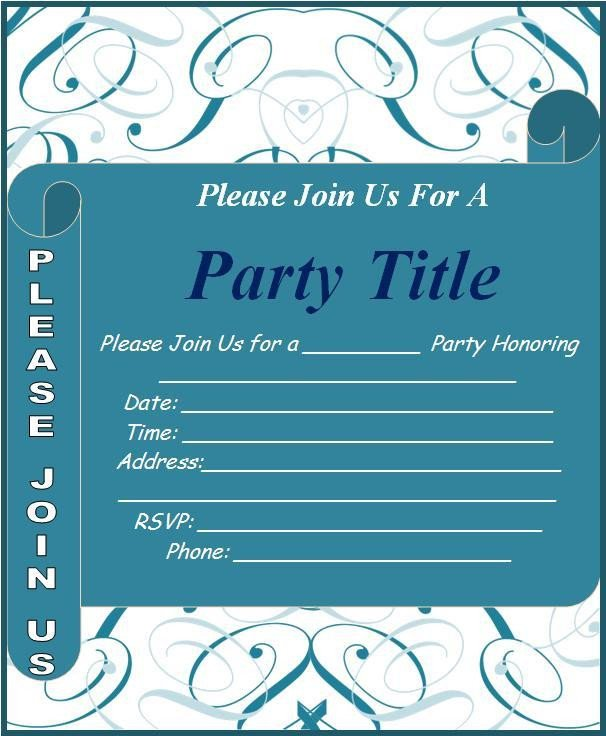 Free Invitation Template Word event Invitation Template