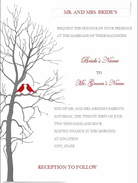 Free Invitation Template Word Free Wedding Invitation Templates for Microsoft Word