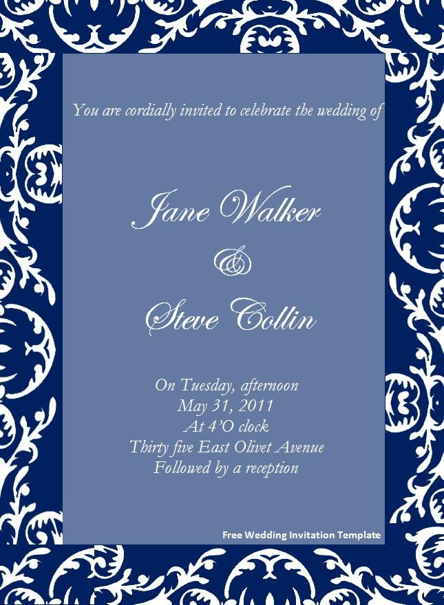 Free Invitation Template Word Invitation Template Category Page 2 Efoza