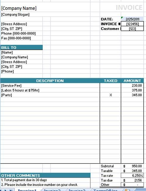 Free Invoice Template for Word Free Invoice Template Microsoft Word Templates